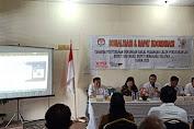 Sosialisasi dan Rakor Tahapan Penyerahan Dukungan Paslon Perseorangan BAWASLU Minsel Menghadirinya