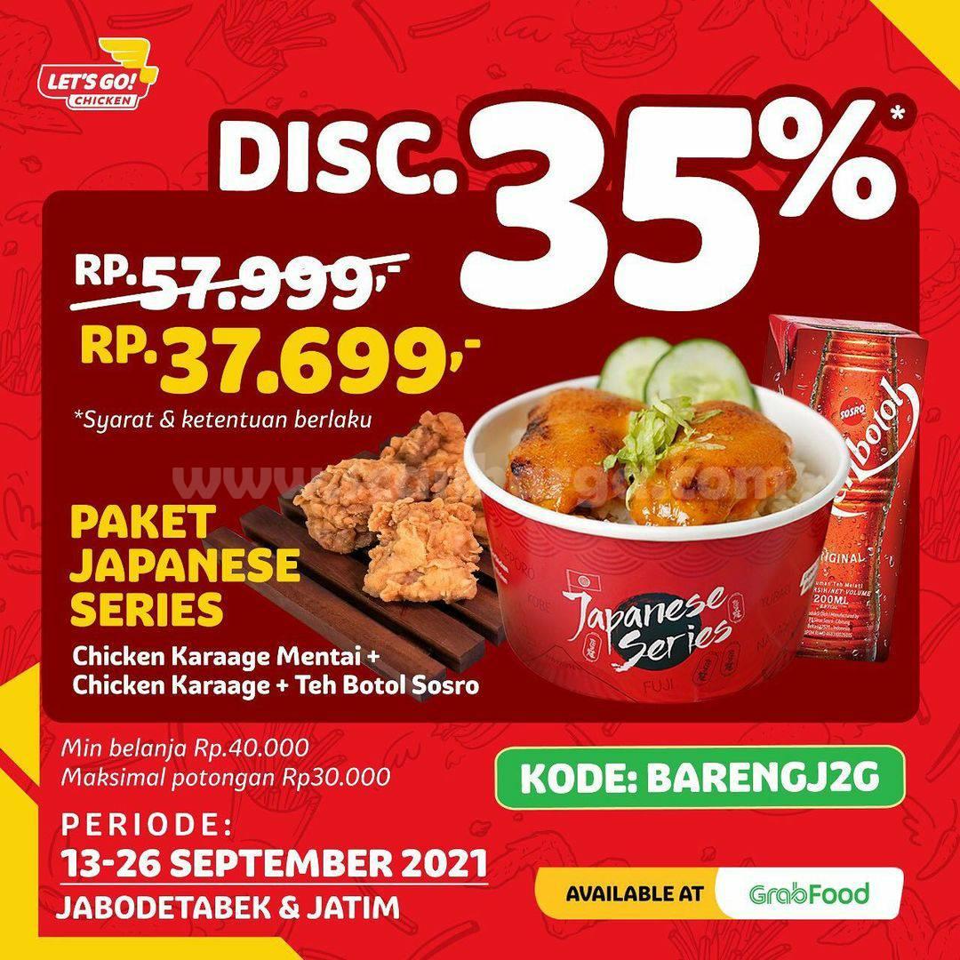 Promo Let's Go! Chicken Terbaru 16 - 26 September 2021