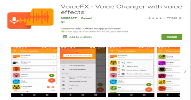 voice fx voice changer with effects