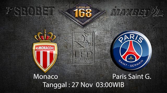 PREDIKSIBOLA - PREDIKSI TARUHAN BOLA MONACO VS PARIS SAINT GERMAIN 27 NOVEMBER 2017 (LIGUE 1)