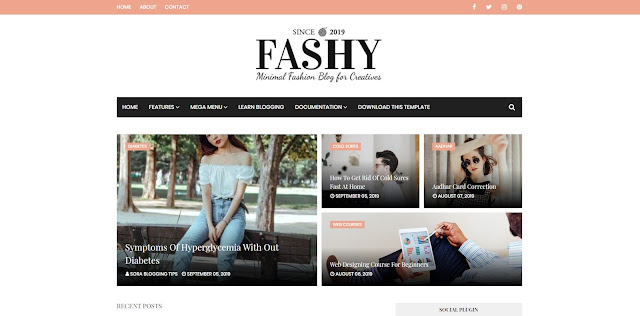 Fashy Blogger Template