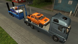 Mercedes MP4 Flatbed & trailer V2