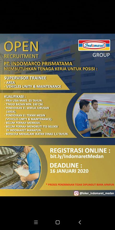 Lowongan Kerja S1 di PT Indomarco Prismatama (Indomaret ...