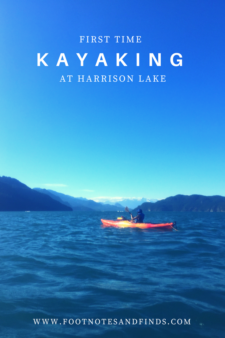 kayaking at harrison lake british columbia
