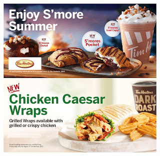 Tim Hortons Menu August 10  – October 17, 2017