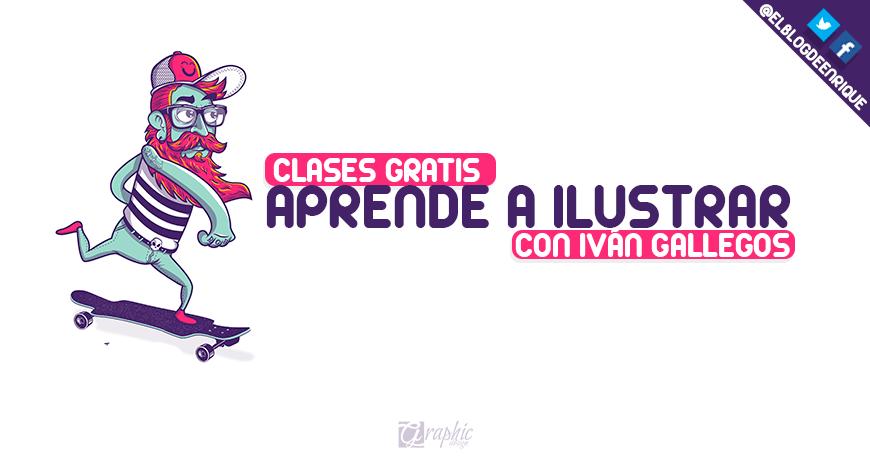 21 clases gratis para que aprendas a ilustrar con Ivan Gallegos