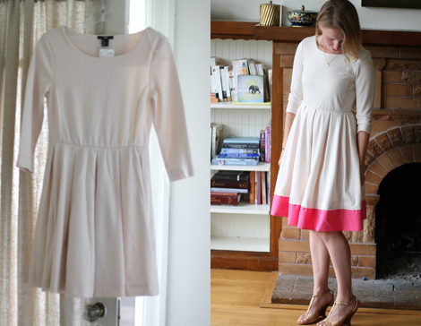 DIY: Refashioned Colorblock Dress - Say Yes