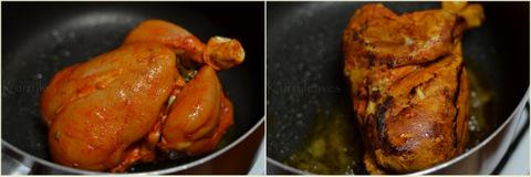 Kozhi Nirachathu Malabar Style Stuffed Chicken Kurryleaves