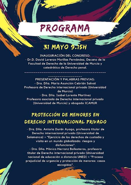 """Congreso: """"Protección de menores en Derecho internacional privado"""""""