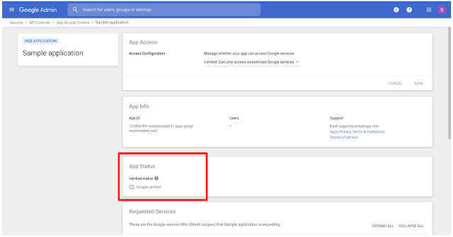 See which apps are Google verified in the Admin console 2