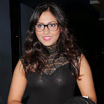 Madhu Shalini  hot pictures in black tight wear