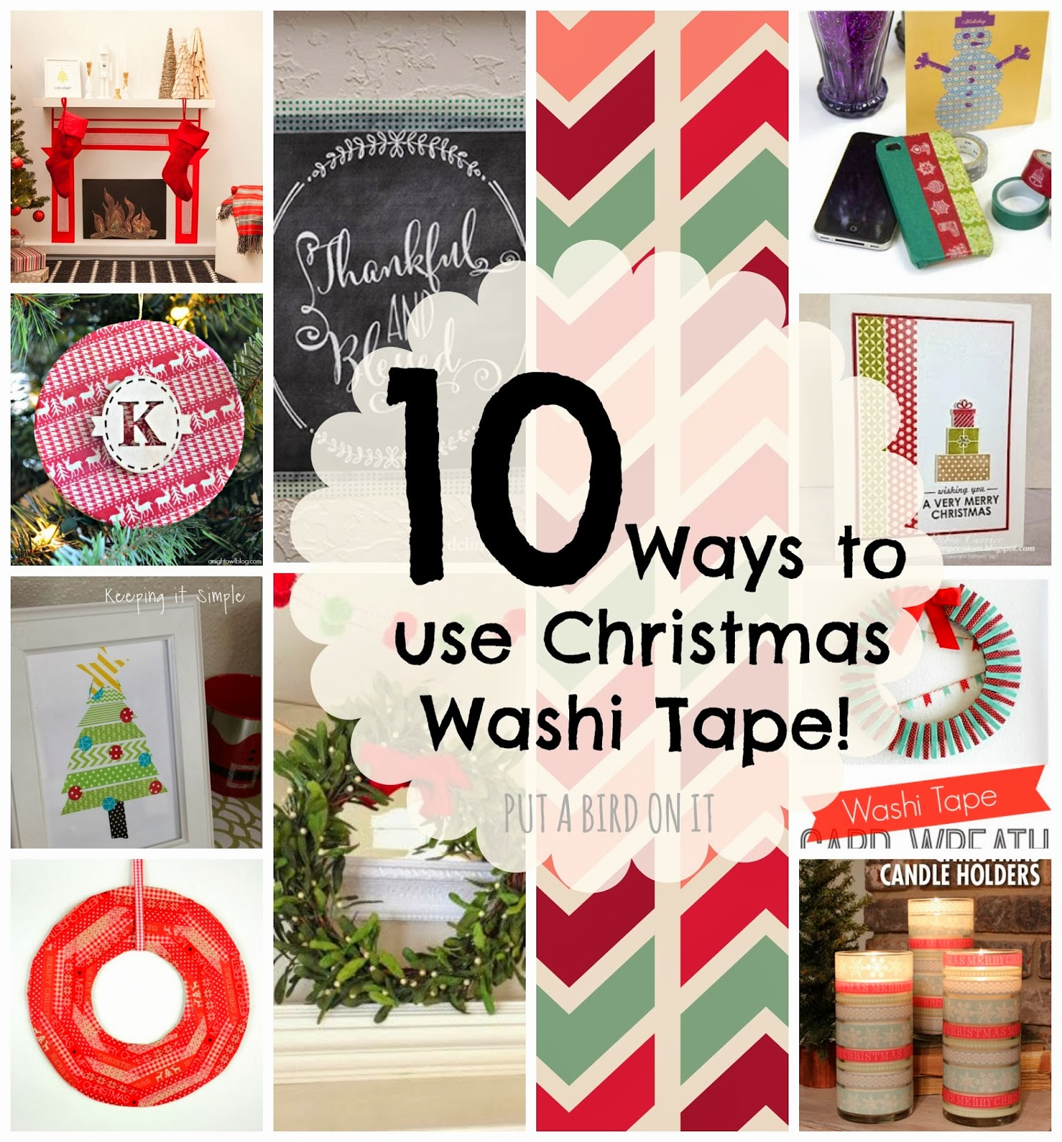 put a bird on it 10 ways to use christmas washi tape. Black Bedroom Furniture Sets. Home Design Ideas
