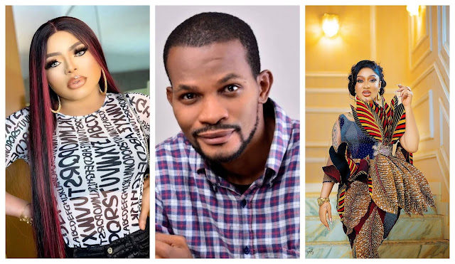 Tonto doesn't need nightmare, Especially seeing your Egunegun face- Uche Maduagwu calls out Bobrisky for Mocking Tonto Dikeh on social media