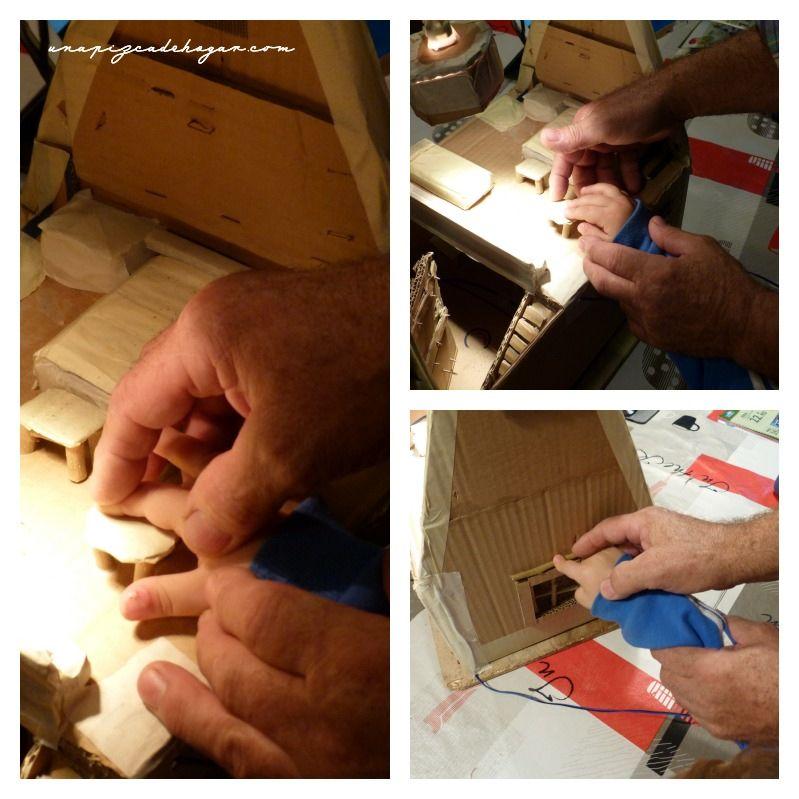 estructura de cartón de una barraca valenciana