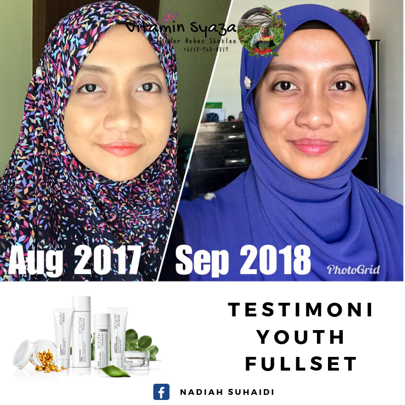 testimoni youth shaklee skincare fullset