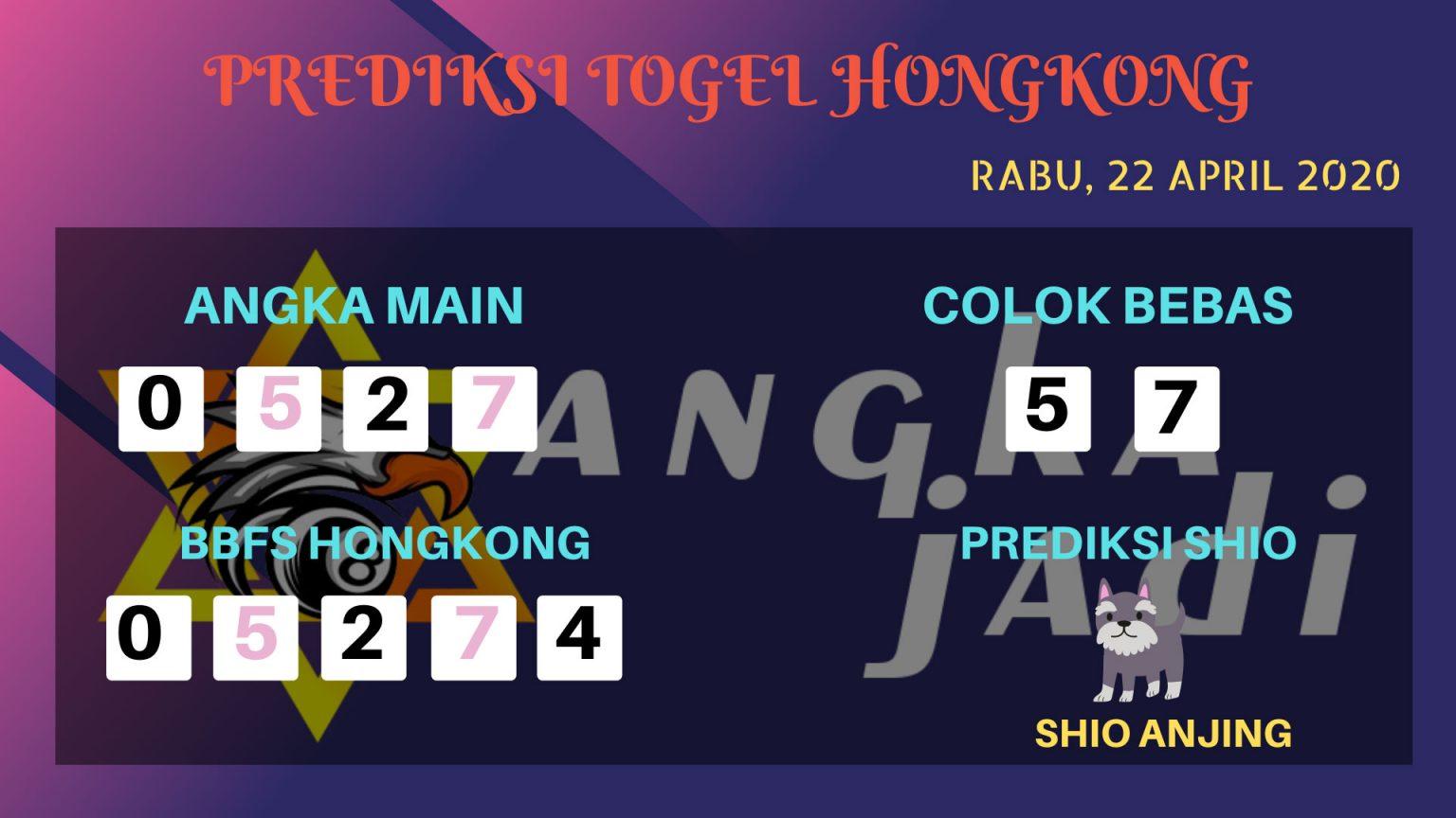 Prediksi HK 22 April 2020 - Prediksi Angka HK