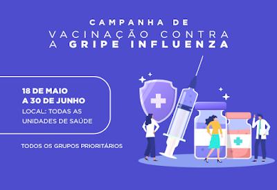 Campanha de Vacinação contra a gripe encerra na próxima terça-feira