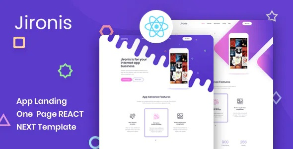 Best React Next App Landing Page Template