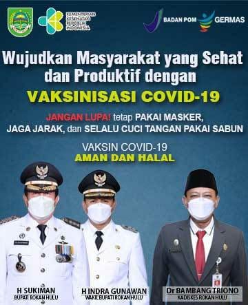 Pemkab Rohil  dan Vaksinasi Covid 19