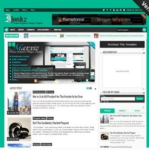 Izonkz blogger template