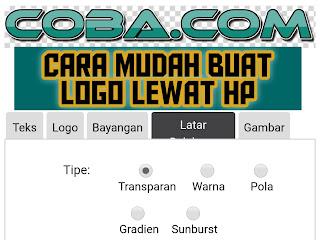 Cara buat logo blog menarik