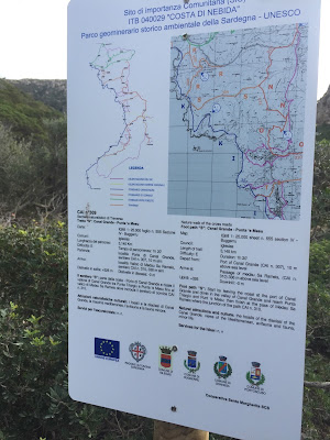Sign explaining trail 309.