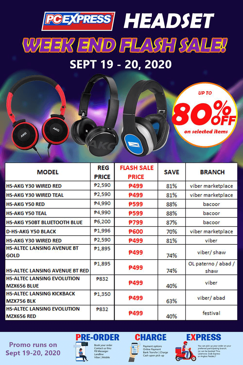 PC Express drops prices of  selected AKG and Altec headsets up to 80 percent off!