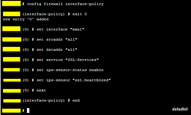 How to protect Fortigate from HeartBleed ( Vulnerability in