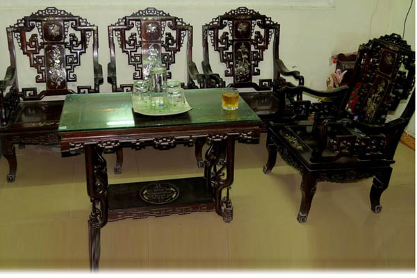 bàn ghế âu á gỗ trắc