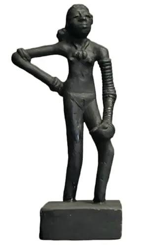 मोहनजोदड़ो का इतिहास, mohenjo daro dancing girl statue, मोहनजोदड़ो कला और संस्कृति, Mohenjo Daro Art and Culture
