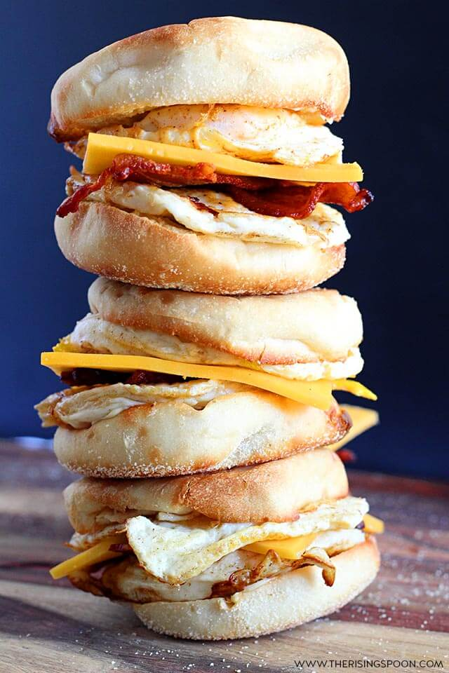 Make Ahead English Muffin Breakfast Sandwiches