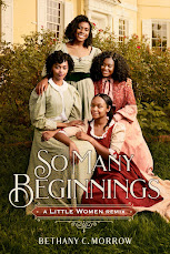 Cover of So Many Beginnings. It features four Black young women. One standing, two seated on chairs and one at their feet like a family portrait with all of them touching at least one other sister in some way. They're smiling.