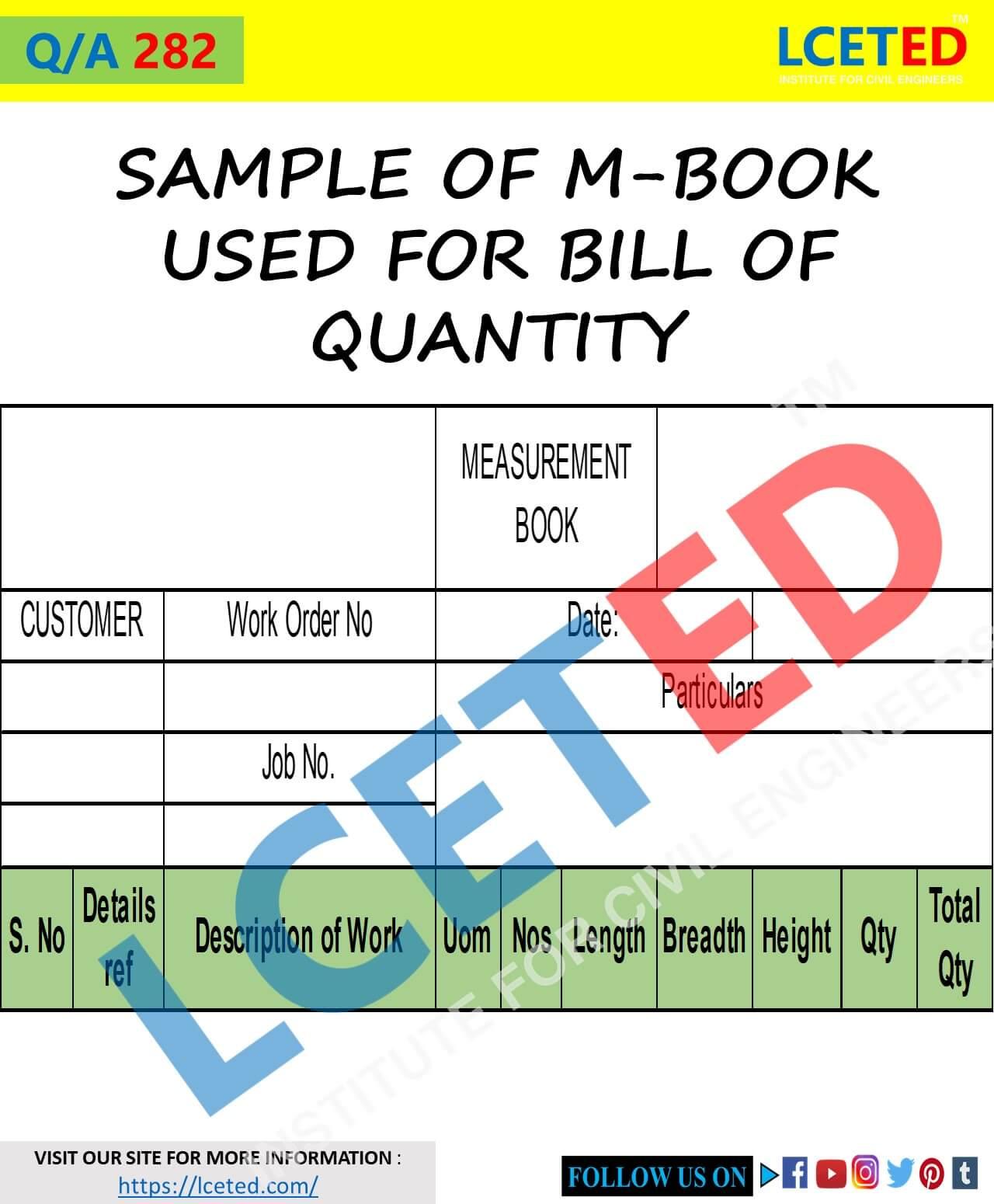 SAMPLE OF M-BOOK