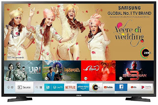Samsung 100 cm (40 Inches) Smart 7-in-1 Full HD Smart LED TV  (Black)