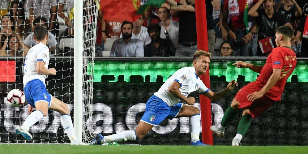 Cuplikan Skor UEFA Nations League: Portugal 1-0 Italia