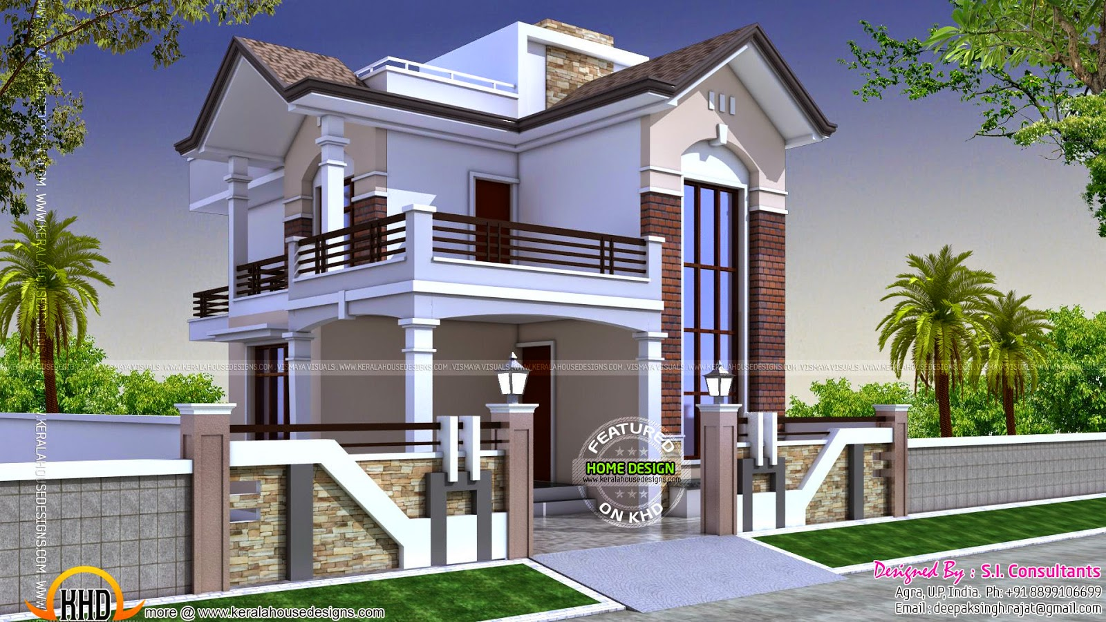 1350 Square Feet Small Double Storied House Kerala Home