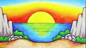 Gambar Montase Pemandangan pantai, Contoh Gambar Montase Pemandangan Pantai