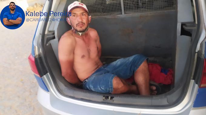 Entregador de gás é preso em flagrante após esfaquear homem, em Brejo da Madre de Deus