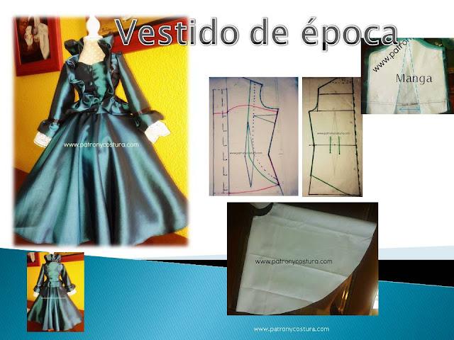 www.patronycostura.com/vestido de época victoriana. Tema 123 diy