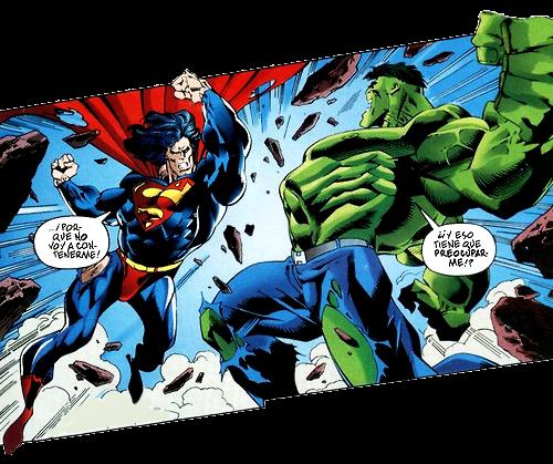 Superman vs Hulk en DC vs Marvel en el que gana Superman