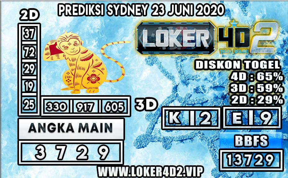 PREDIKSI TOGEL SYDNEY LOKER4D2 23 JUNI 2020