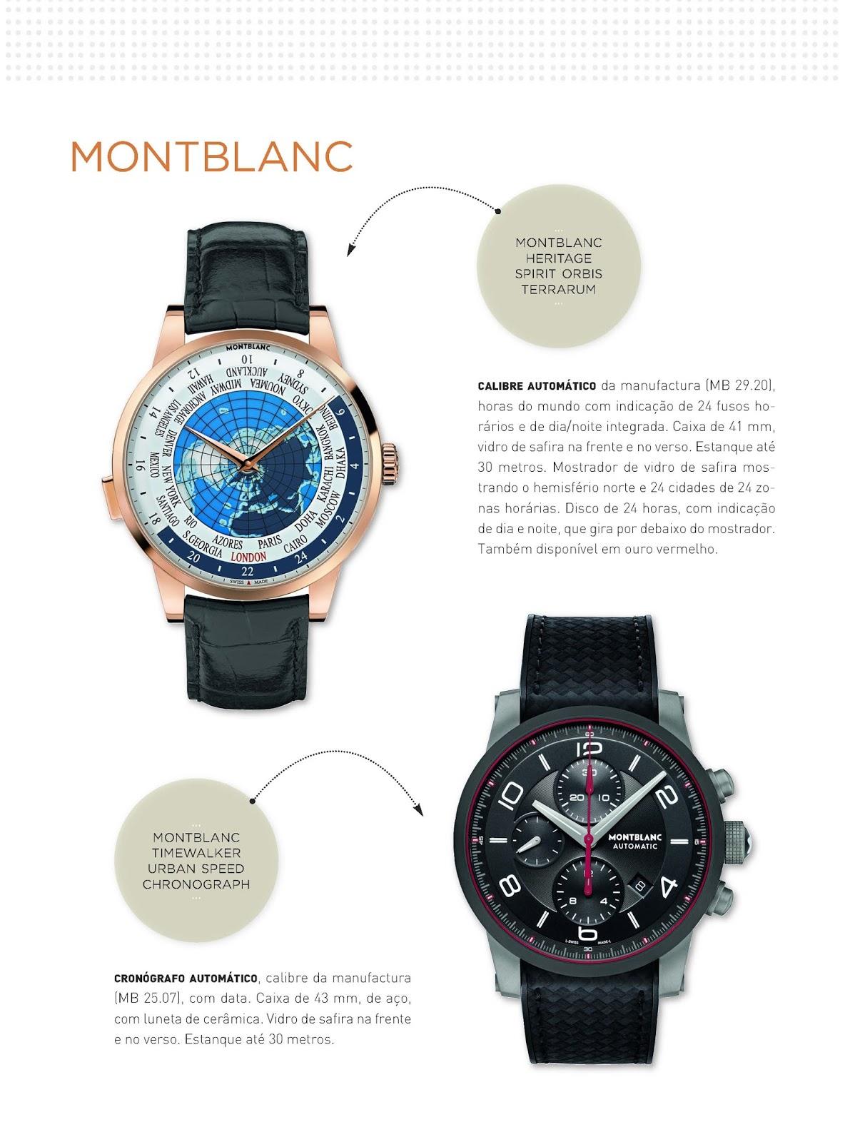 694934f88ee Relógios   Canetas online - relógios Montblanc Heritage Spirit Orbis  Terrarum e Timewalker Urban Speed Chronograph