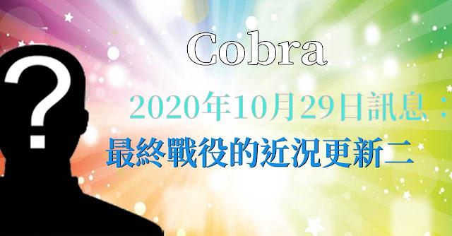 [揭密者][柯博拉Cobra] 2020年10月28日訊息:最終戰役的近況更新第二部分