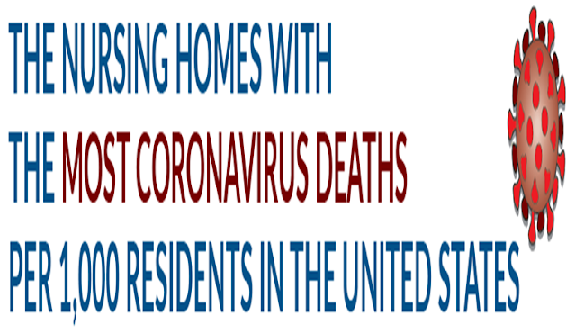 The Nursing Homes With the Most Coronavirus Deaths per 1,000 Residents in the United States #Infographic
