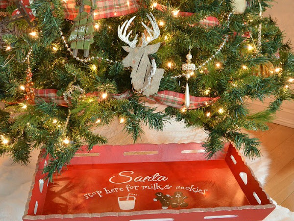 How To Make Folding Bed Table Santa Cookie Tray