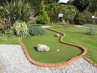 Miniature Golf course at Puckpool Park in Ryde on the Isle of Wight
