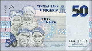 50 Naira is a Nigerian currency