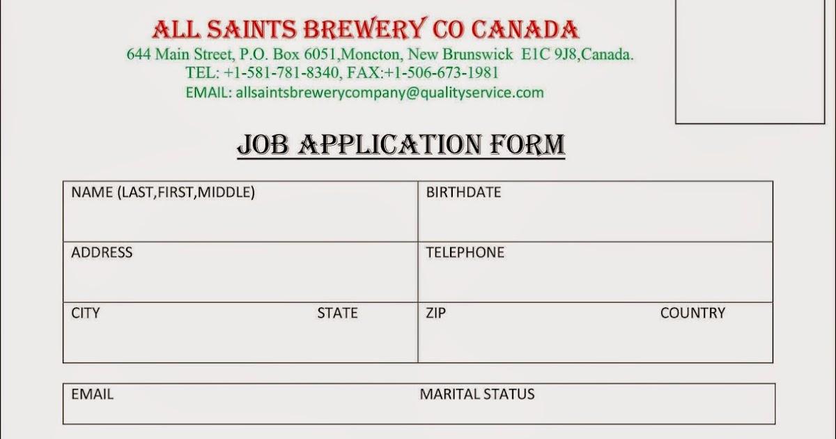 Email Frauds Job Application Form