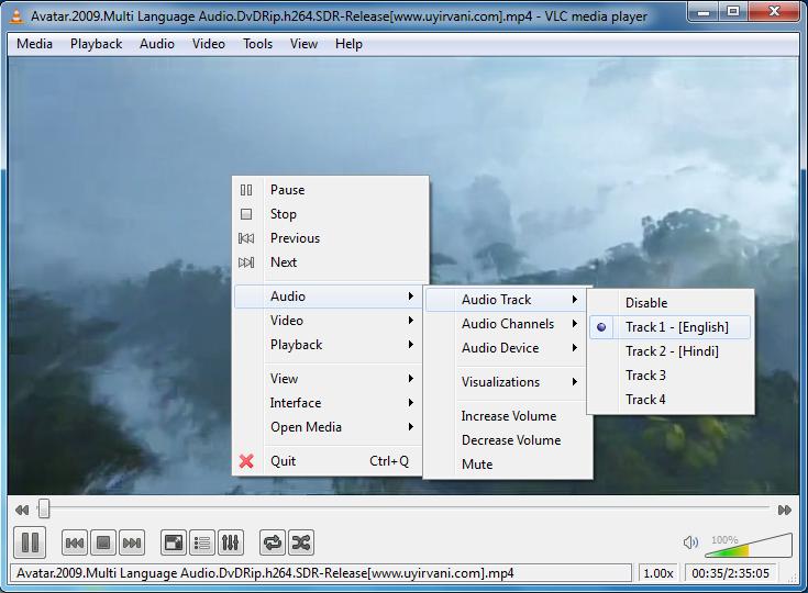 Change film language ~ VLC Media Player Secrets