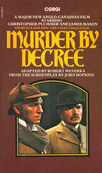 British Novelization Of The 1979 Film Starring Christopher Plummer As Holmes And James Mason Watson A US Edition Was Published By Ballantine Books